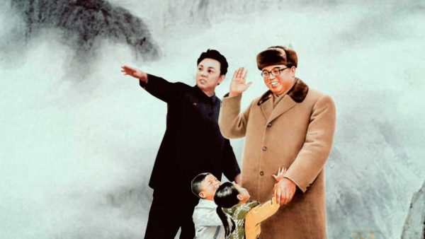 North-Korean-painting-of-Kim-Il-Sung-and-his-son